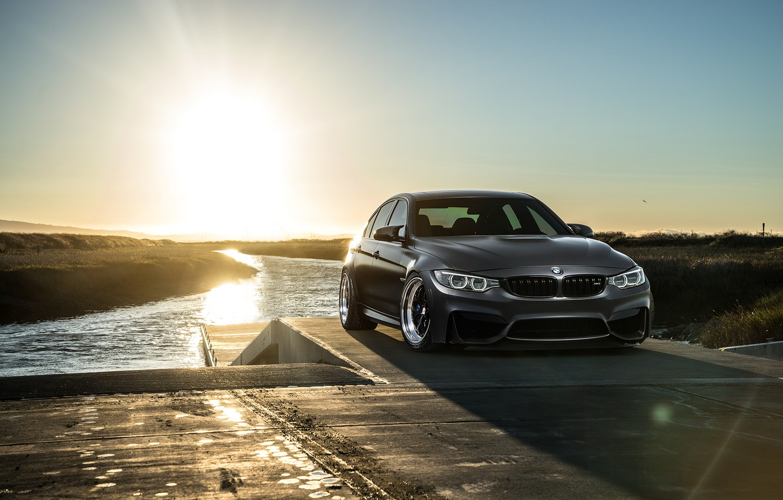 Photo wallpaper BMW, Carbon, Front, Black, Sun, Matte, F80, Mode