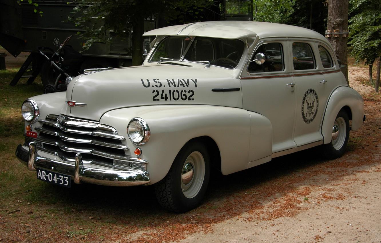 Photo wallpaper Chevrolet, war, car, world, Second, times, Fleetmaster