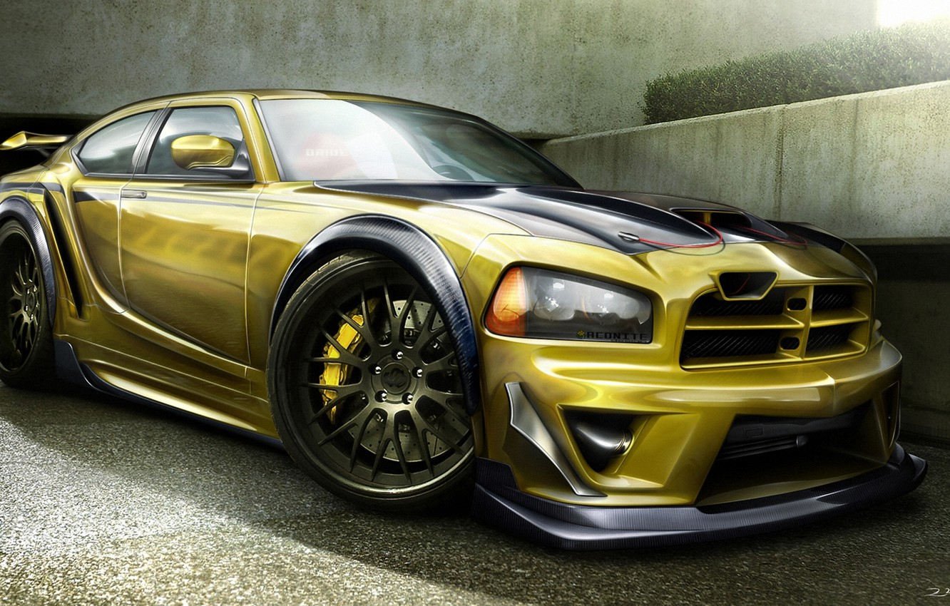 Photo wallpaper figure, Dodge, SRT8, Dodge, Charger, the charger