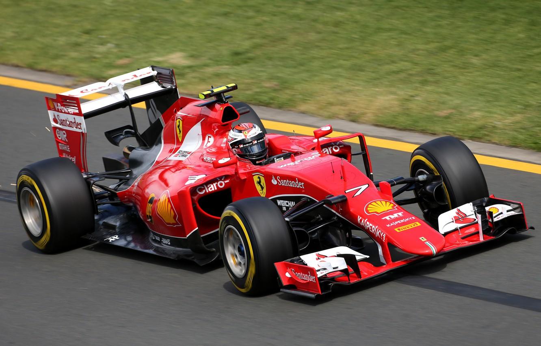 Photo wallpaper Grass, Ferrari, Formula 1, Kimi Raikkonen Also, 2015, SF15T