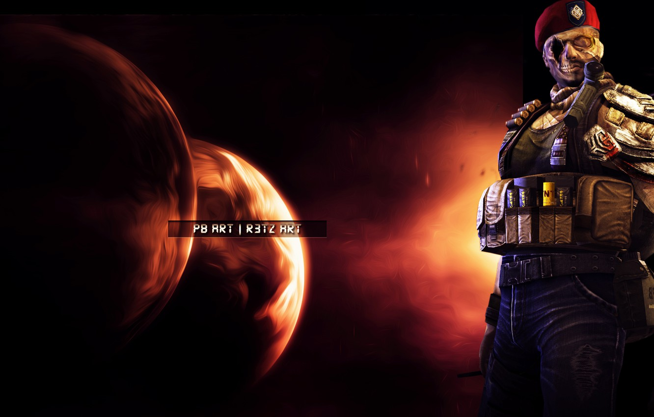 Photo wallpaper space, zombies, shooter, Point Blank, skins