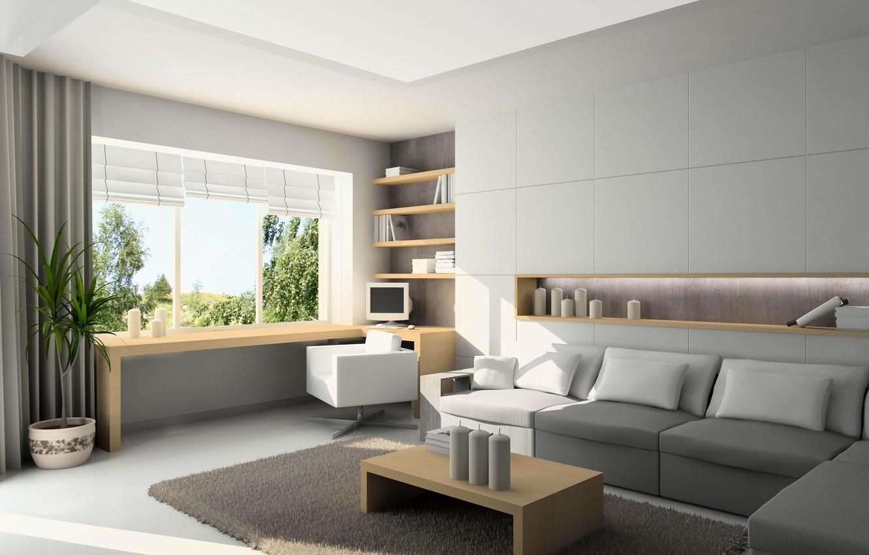 Photo wallpaper design, room, interior