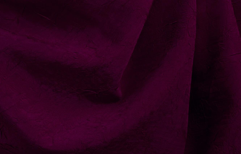 Photo wallpaper fabric, folds, cherry blossom