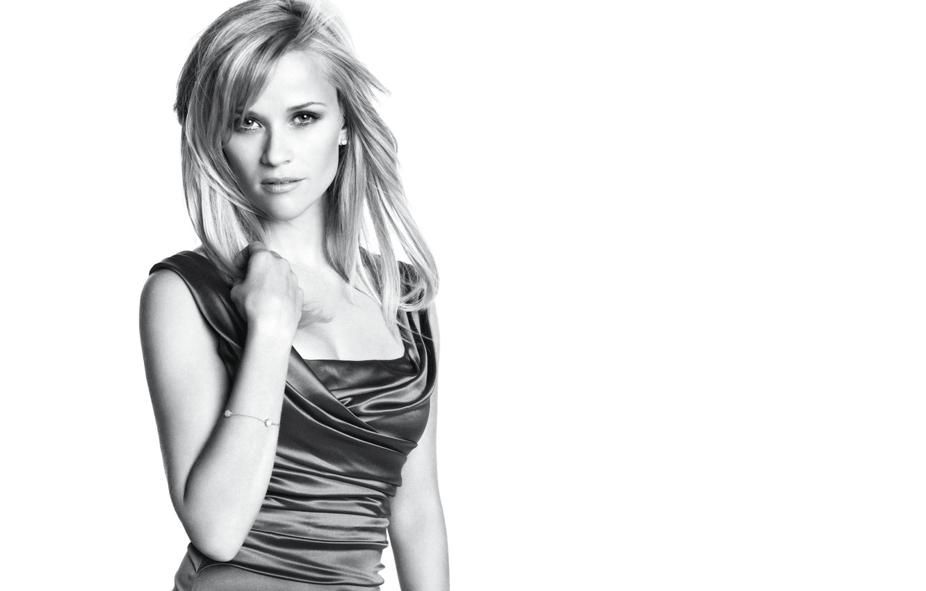 Photo wallpaper actress, black and white, Reese Witherspoon, Reese Witherspoon