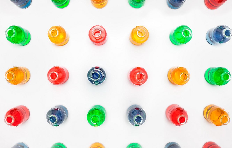 Photo wallpaper background, color, bottle