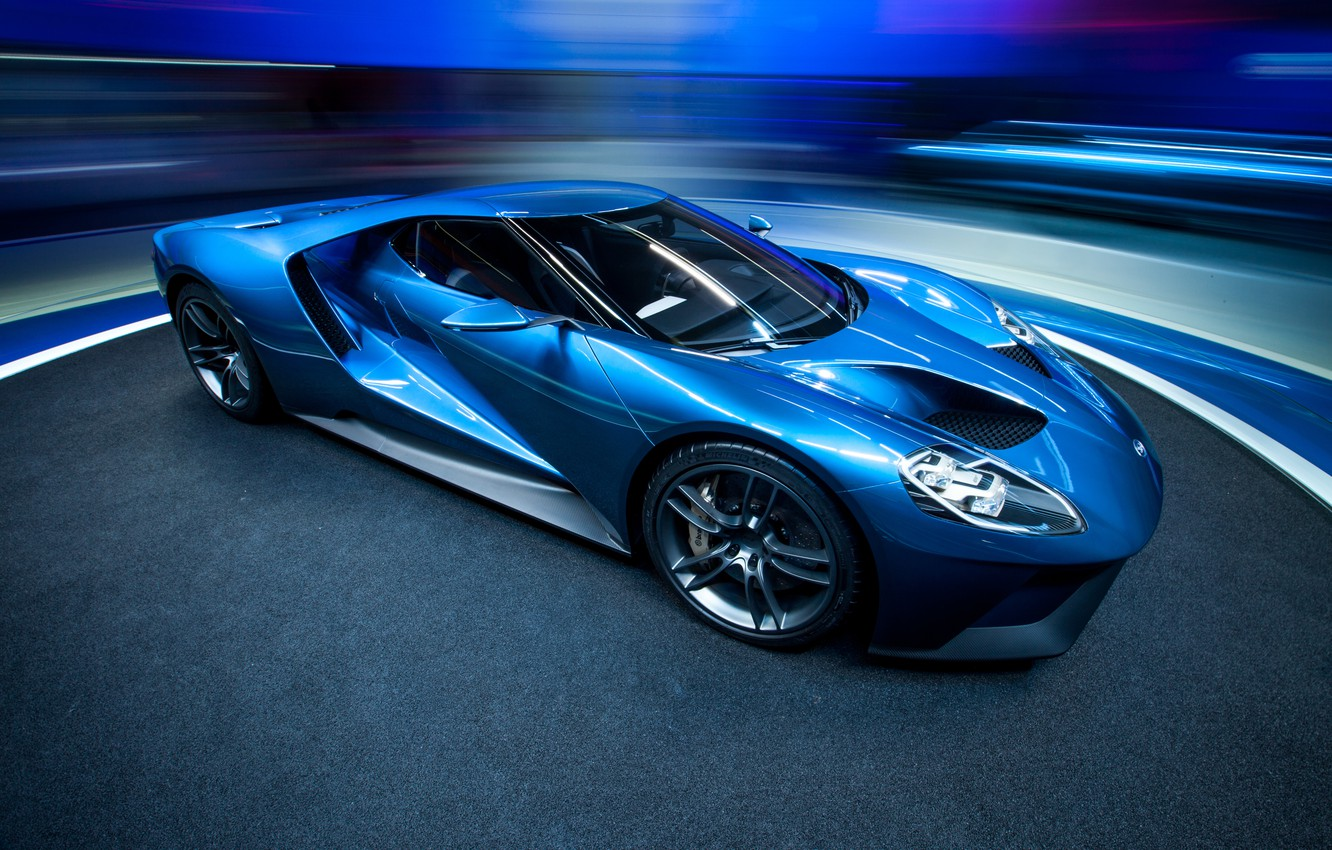 Photo wallpaper ford, blue, 2015
