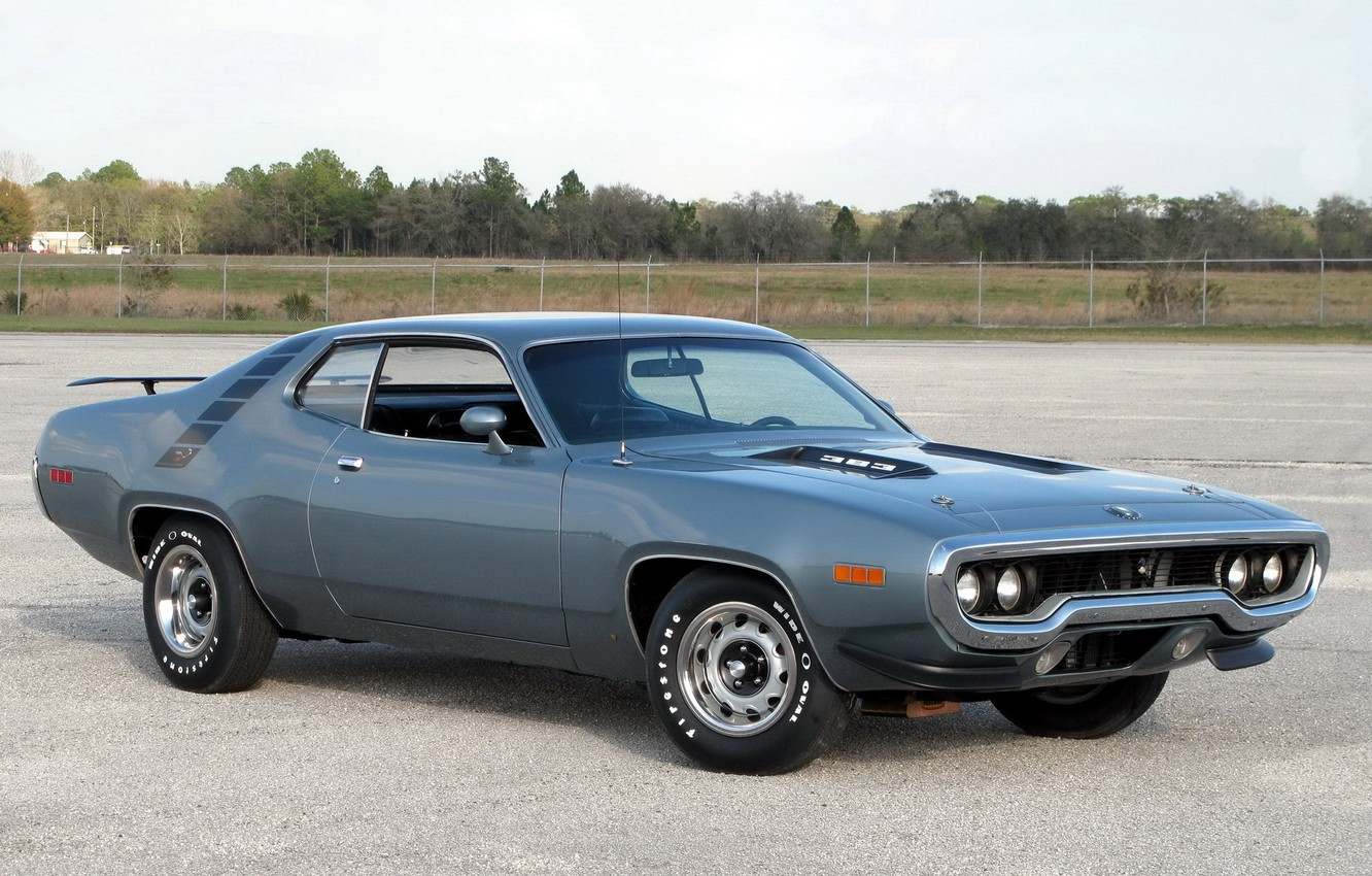 Photo wallpaper 1971, muscle car, muscle car, Plymouth, road runner, plymouth