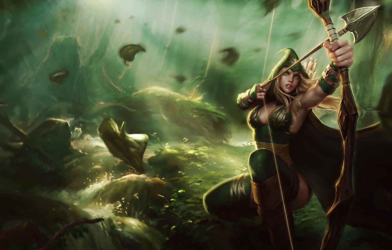 Wallpaper League Of Legends Ashe Lol League Of Legends