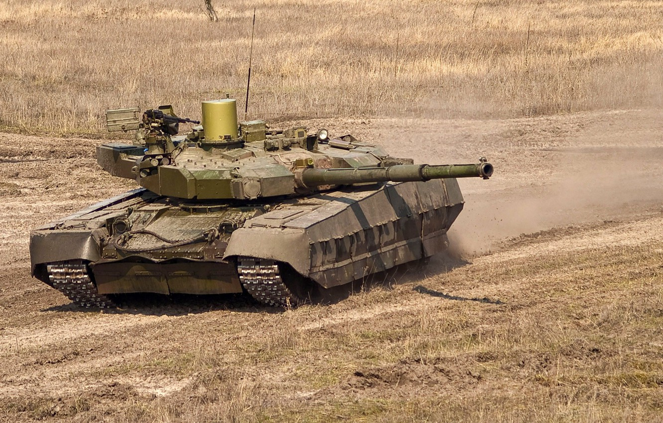Photo wallpaper the steppe, army, Tank, Ukraine, exercises, stronghold, Т84У