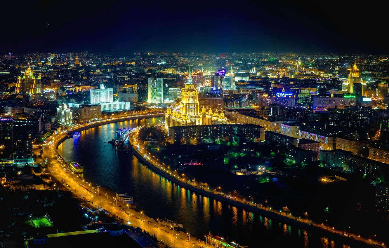Wallpaper Night Moscow Night Moscow Images For Desktop