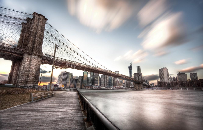 Photo wallpaper autumn, the city, skyscrapers, USA, America, USA, New York City, new York