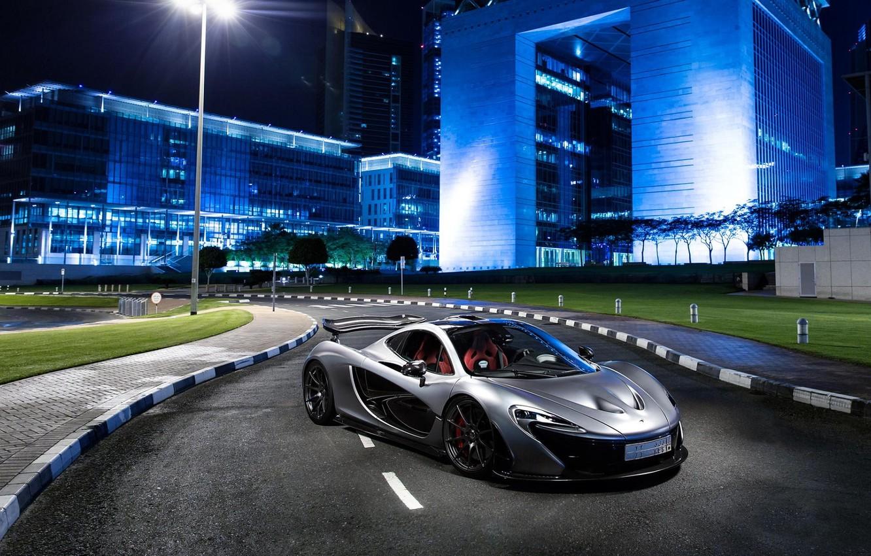 Photo wallpaper McLaren, Supercar, Silver, Hypercar