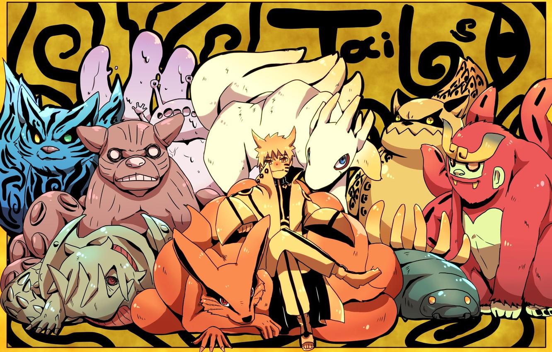 Photo wallpaper art, naruto, tailed, naruto Uzumaki, Biju