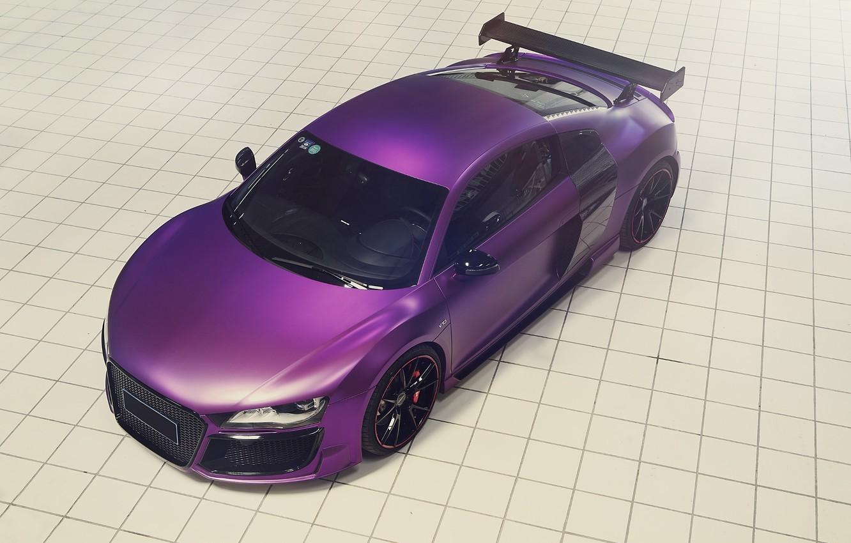 Photo wallpaper Audi, Purple, Tuning, V10, Supercar, Ligth, REGULA