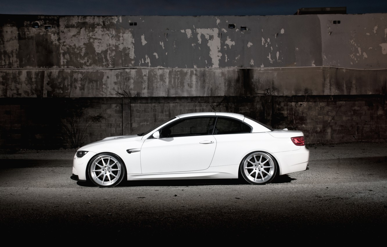 Photo wallpaper white, wall, BMW, BMW, white, convertible, E93, Cabrio