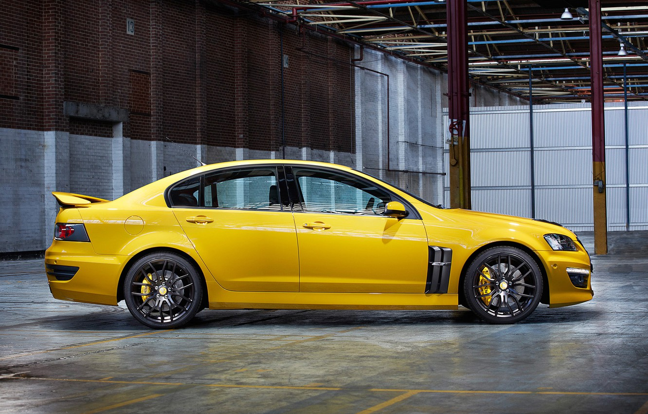 Photo wallpaper yellow, garage, canopy, yellow, garage, GTS, Holden, Holden, shed, HSV