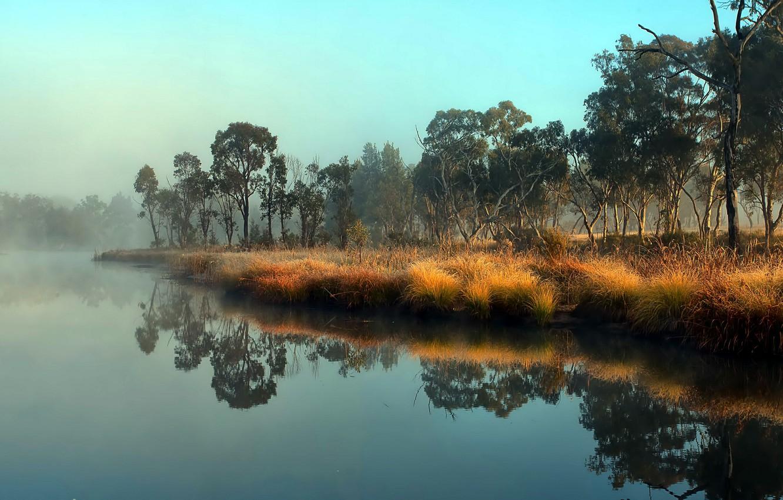 Photo wallpaper landscape, nature, river