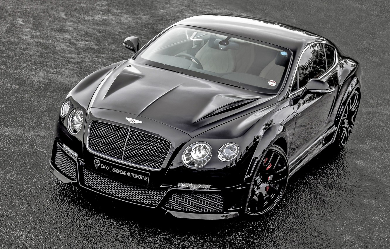 Photo wallpaper Bentley, Continental, Front, Black, Tuning, ONYX