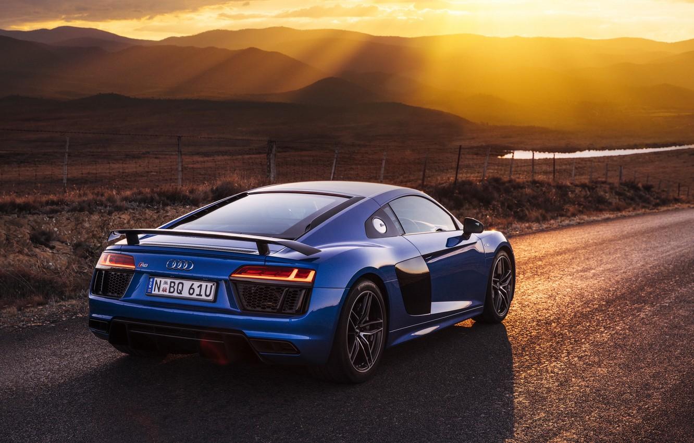 Photo wallpaper road, rays, light, Audi, Audi, car, V10, More