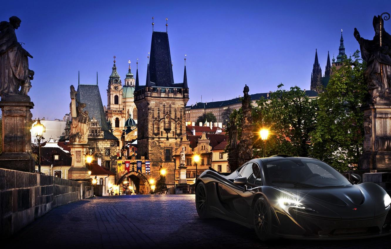 Photo wallpaper the city, supercar, McLaren, mclaren p1, hypercar, forza motorsport 5