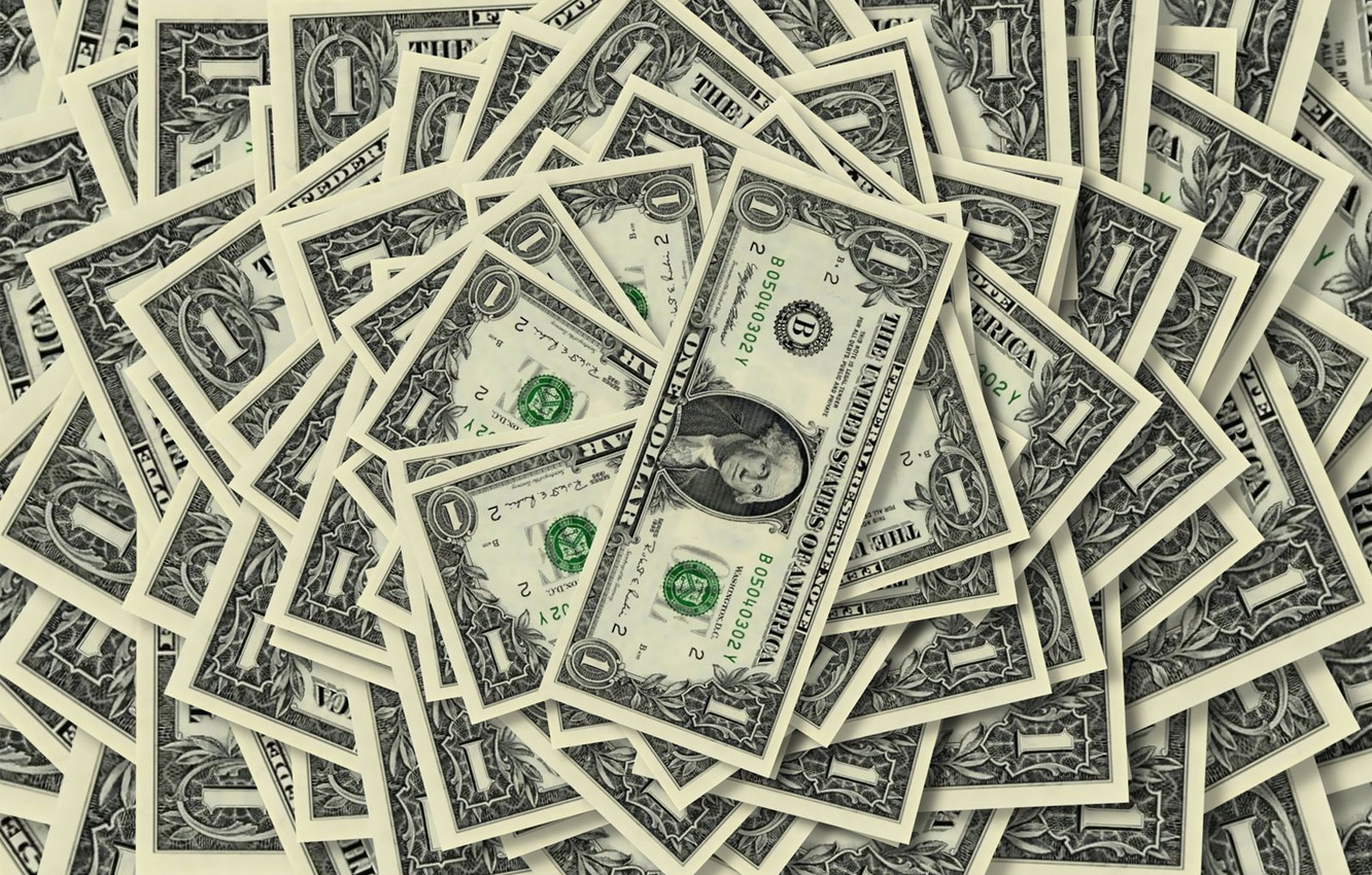 Photo wallpaper background, one, money, dollar, bills, the number, dignity