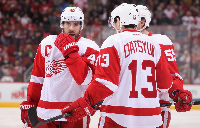 Photo wallpaper hockey, Pavel Datsyuk, The Detroit Red Wings