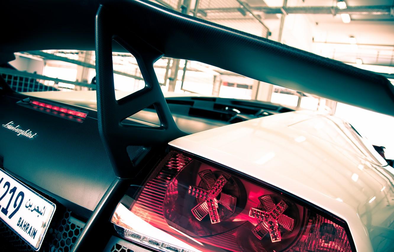 Wallpaper White Lamborghini White Spoiler Carbon Lamborghini