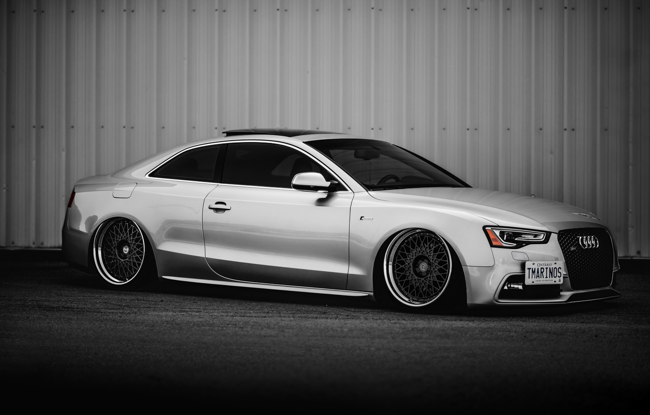 Photo wallpaper car, tuning, stance, audi s5