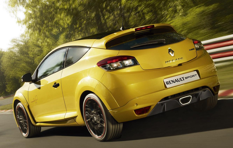 Photo wallpaper Sport, Machine, Race, Movement, Renault, Megan, Car, Race, Yellow, Car, Reno, Cars, Yellow, Sport, Racing …