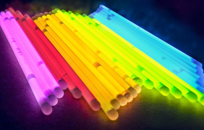 Photo wallpaper light, color, tube