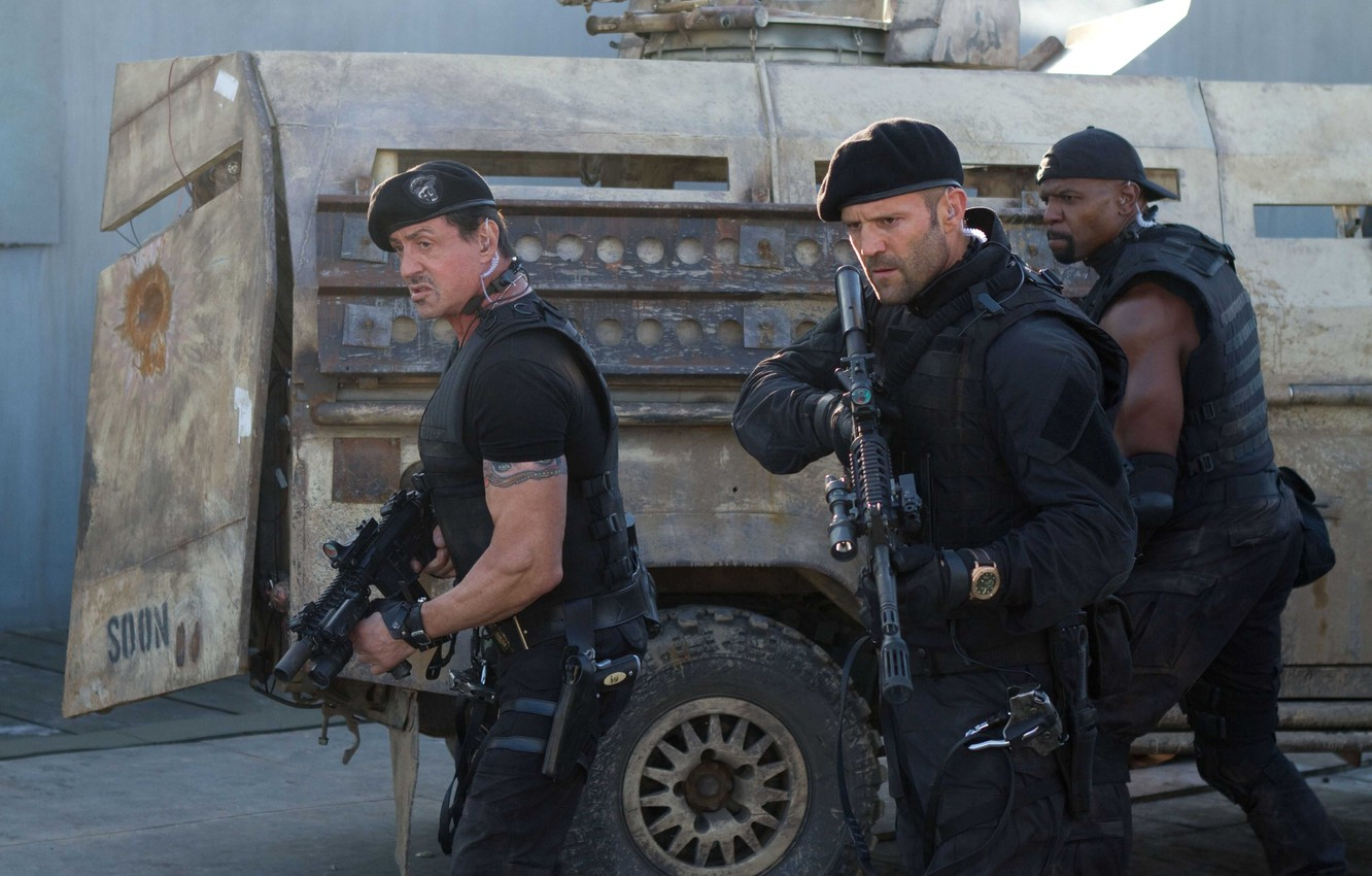 Photo wallpaper weapons, soldiers, Sylvester Stallone, machines, Jason Statham, Sylvester Stallone, Jason Statham, The Expendables 2, The …