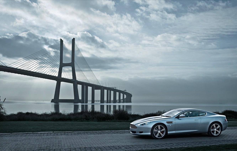 Photo wallpaper auto, machine, Aston Martin, bridges, aston martin, bridges