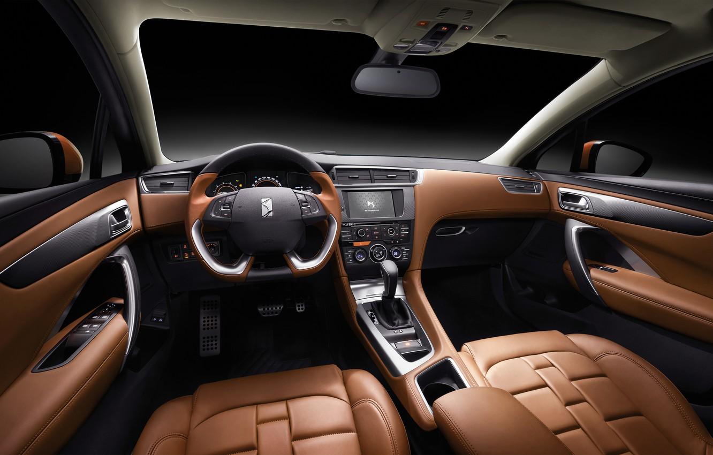 Photo wallpaper panel, interior, the wheel, Citroen, salon, Citroen, torpedo, DS 4