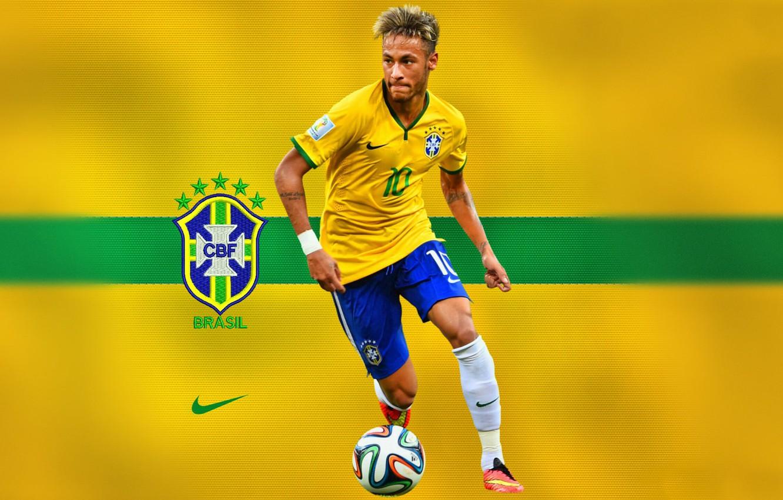 Photo wallpaper men, soccer, Brasil, Neymar, champion