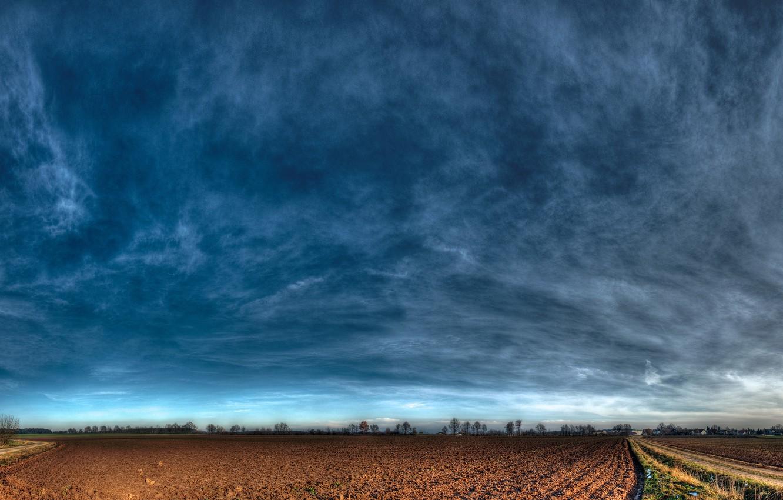 Photo wallpaper road, sky, nature