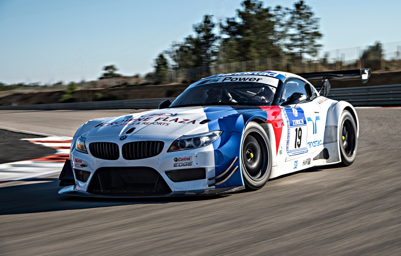 Photo wallpaper BMW, Race, Front, GT3, Day, DTM, Track