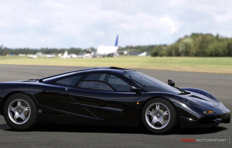Photo wallpaper black, McLaren, track, gtr, motorsport 4, forza