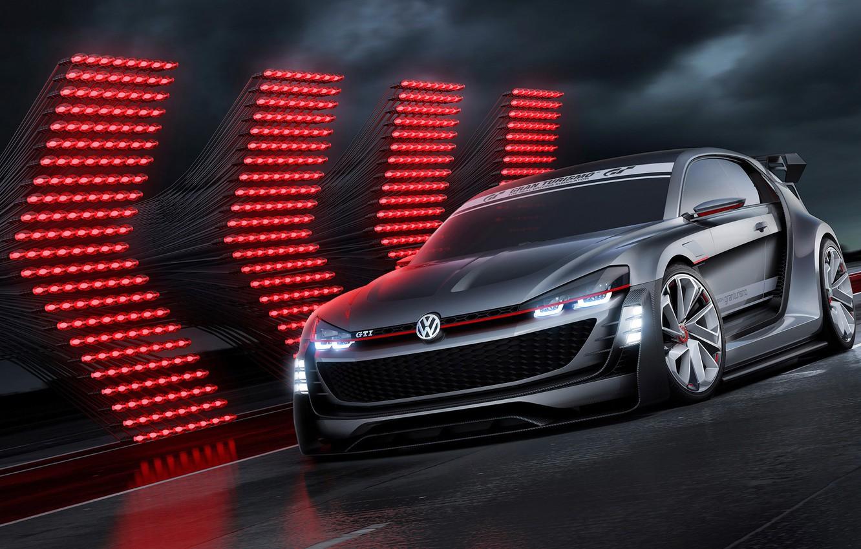 Photo wallpaper Concept, Volkswagen, Vision, GTI, Volkswagen, Supersport, Gran Turismo, 2015