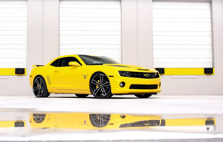 Photo wallpaper Chevrolet, Camaro, yellow, Transformers, Edition