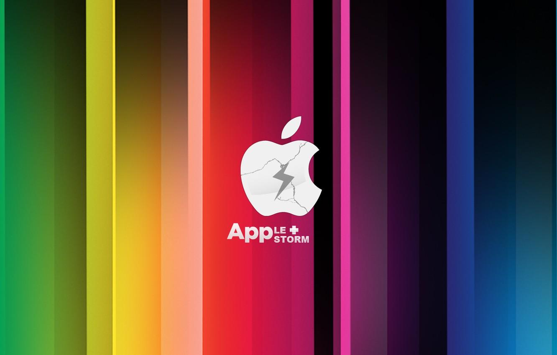 Photo wallpaper apple, Apple, storm