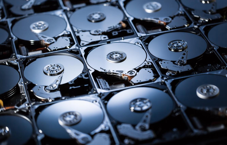 Photo wallpaper computer, hard drives, digital storage