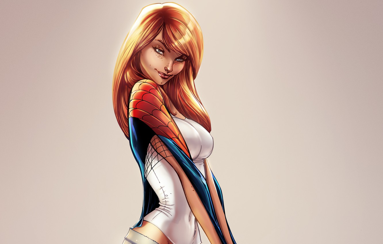 Photo wallpaper girl, Marvel Comics, Spider-Man, Mary Jane Watson, Mary Jane