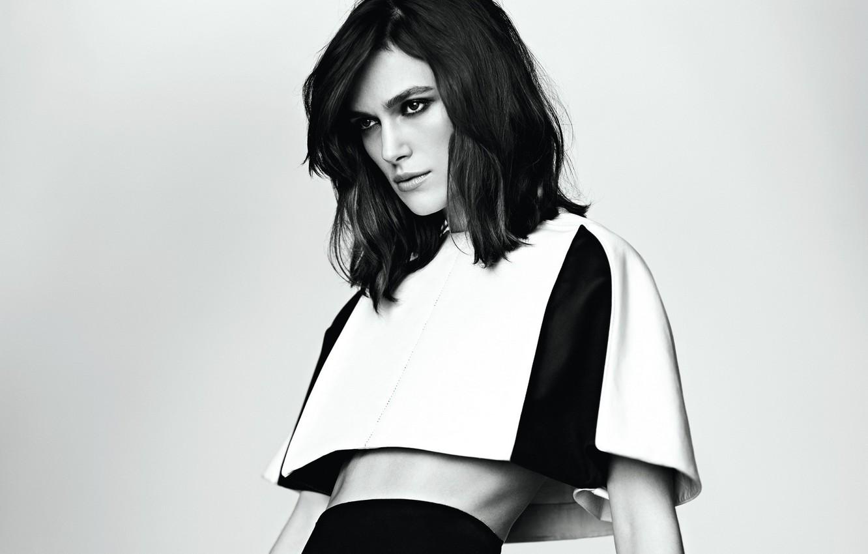 Photo wallpaper black and white, Keira Knightley, Keira Knightley
