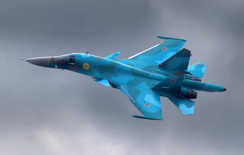 Photo wallpaper aviation, bomber, su-34