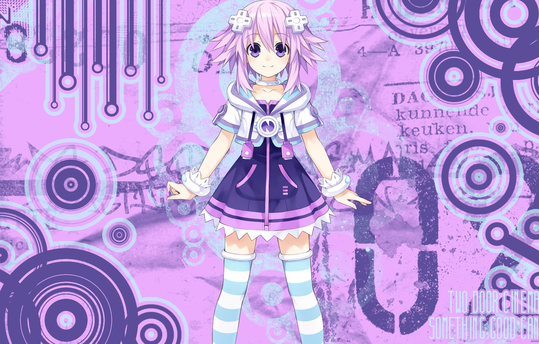 Wallpaper Look Girl Smile Anime Art Goddess Neptunium