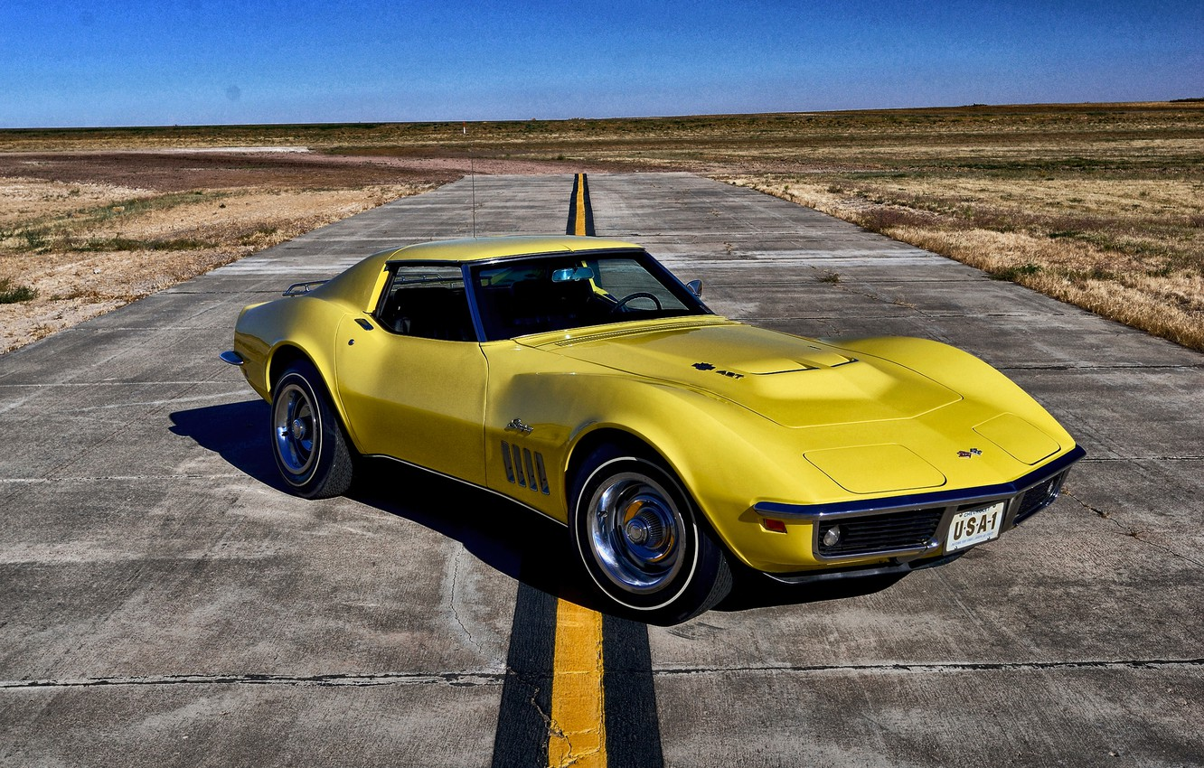 Photo wallpaper Corvette, Chevrolet, 1969, Chevrolet, Stingray, Corvette
