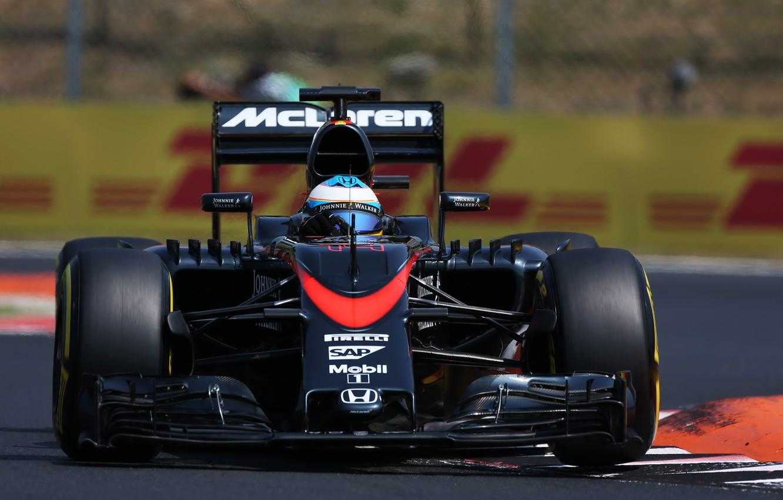 Photo wallpaper McLaren, Profile, Formula 1, Fernando Alonso, MP4-30