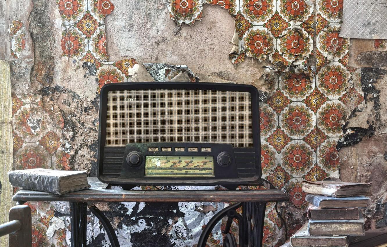 Photo wallpaper background, radio, receiver