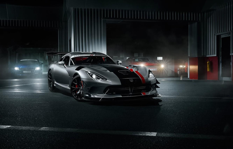 Photo wallpaper Dodge, Car, Viper, Front, Sport, American, Silver, ACR
