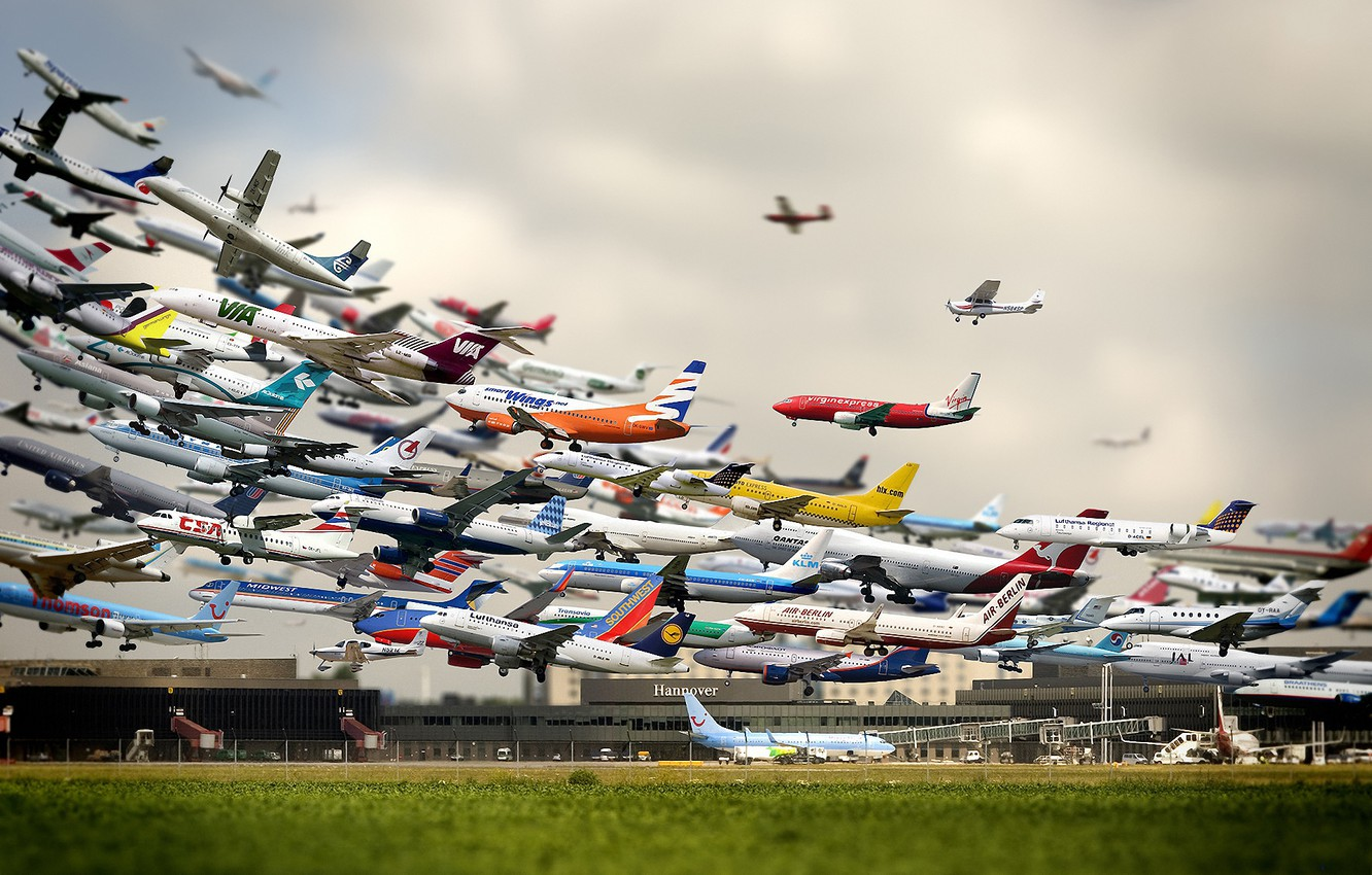 Photo wallpaper aircraft, airport, the rise